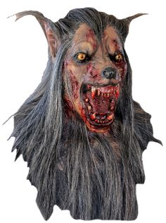 Brown Wolf Latex Adult Mask, Full over the head latex wolf mask with rotting accents and hair attached. Hand painted for the most realistic look possible. Halloween Horror Movies, Clever Halloween Costumes, Adult Halloween, Halloween Masks, Scary Halloween, Halloween Stuff, Halloween Ideas, Halloween Decorations, Halloween Accessories