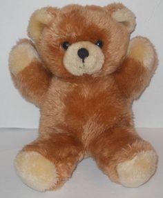 "DAKIN 11"" 1984 Teddy Bear Arms Up Tan Cream Brown Lovey Doll Plush Stuffed  VTG #Dakin"