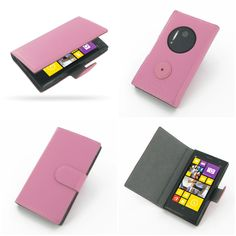 PDair Ultra Thin Leather Case for Nokia Lumia 1020 - Book Type (Petal Pink)