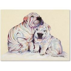 Trademark Fine Art Snuggles Canvas Art by Pat Saunders-White, Size: 14 x 19, Multicolor
