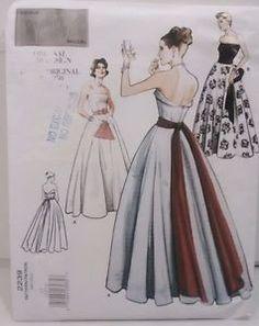 Vogue Pattern #2239 Evening Ball Gown Dress 1950's Misses' Design Size 12