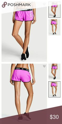VS  The Player by Victoria Sport Run Short Large VICTORIA  SECRET  SPORT The Player by Victoria Sport Run Short Size Large House Party VSX Graphic Print  Ready to run: a built-in panty, inside pocket and stay-cool Body-Wick fabric help you stay on track mile after mile.  Medium rise Built-in panty Internal pocket 3?? inseam Body-Wick keeps you cool & dry Machine wash. Tumble dry. Imported polyester Victoria's Secret Shorts