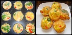 Breakfast recipe. Healthy egg breakfast muffins. Recipe on Link.