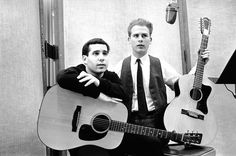 Paul Simon & Art Garfunkel, back in the early days ♥