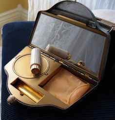 1950s Vintage Cigarette/Compact/Purse Touch and Glow with Honey Bee Pink LipStick $65.00