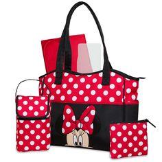 Disney Minnie 3 Piece Diaper Bag Set with Bonus Bottle Bag, Black Cute Diaper Bags, Bottle Bag, Mode Inspiration, Swagg, Baby Items, Kylie, Minnie Mouse, Ebay, 3 Piece