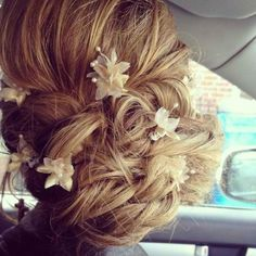 I would rather wear flowers around my hair than diamonds around my neck