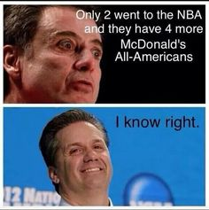 I love this. Oh and just to smile even more. Here are the facts . Cal 6, pitino 1. #rebuildingmylife