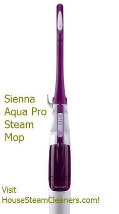 Sienna Aqua Pro Steam Mop 1500 Watts - $99.99  Adjustable Steam Control. #Steam #mops tile, sealed hardwood floors, marble, grout, and even carpet. Discover more!