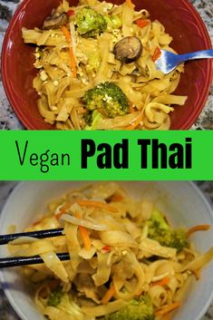 Vegan Pad Thai - This recipe tastes authentic It s just really good and it s so flavorful Get ready for a flavor explosion for this amazing vegan meal Vegan Dinner Recipes, Vegan Dinners, Whole Food Recipes, Vegetarian Recipes, Party Recipes, Cheesy Sausage Pasta, Vegan Pad Thai, Best Pasta Dishes, Vegan Comfort Food