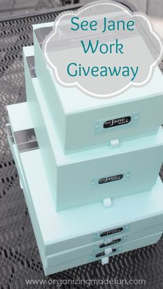 See Jane Work Giveaway of great organizing products | OrganizingMadeFun.com