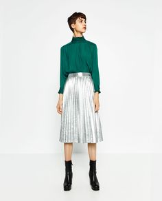 Image 1 of HIGH COLLAR BLOUSE from Zara