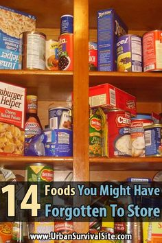 A delicious meal or snack can really boost your morale. That's why you need some variety in your food storage. Here are 14 foods you might have forgotten.