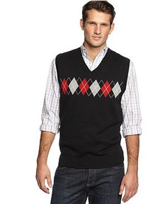 Geoffrey Beene Vest, Argyle Sweater Vest - Mens Sweaters - Macy's ...