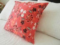 Flouncy Flowers Cherry Throw Pillow. $27.00, via Etsy.