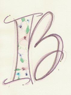 Textured Letter B, via Flickr