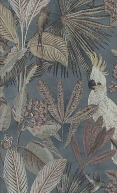 Hertex Fabrics is s fabric supplier of fabrics for upholstery and interior design Hertex Fabrics, Motif Tropical, Green Orchid, Tropical Home Decor, Bunt, Wall Murals, Floral Prints, Painting, Bedroom