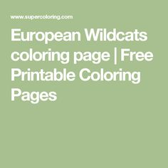 European Wildcats coloring page | Free Printable Coloring Pages
