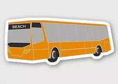 bus beach sticker
