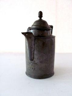 Antique Pewter Coffee Pot. via Etsy.