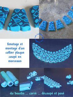 technique collier fimo plaque