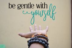 This is perfect for your yoga space or any other place you would need a reminder to go easy on yourself