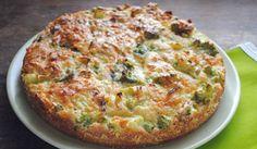 Zdravá slaná torta bez pridania múky. Brokolica tvorí základ receptu. Dobrú chuť!