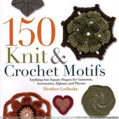 BOOK ♥LCB♥150 Knit and Crochet motifs with diagrams