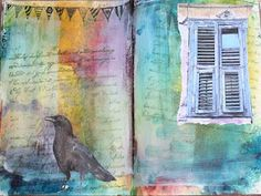 Pretty art journal page