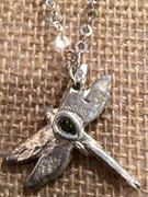 Holiday Gift, Great Gift for Her, Handmade,Stocking Stuffer   Peridot Oval Gemstone Set in DragonFly Sterling Sliver Pendant by serendepitycorner. Explore more products on http://serendepitycorner.etsy.com
