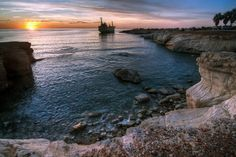 Wreck of Edro III, sea caves near Pafos. Image by Getty Images