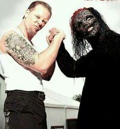 James Hittfield-Metallica y Corey Taylor-Slipknot