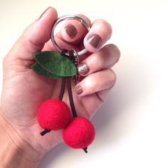 So versatile, you can use these Felt Cherry Keychains as purse charms or for your keys. Planner charms, and backpack cuteness for sure! $6 in the Cuddle Cups Shop