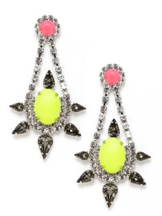 Bianca Multicolor Crystal Teardrop Earrings by Courtney Lee Collection