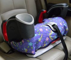 New addition - Backless, Graco Nautilus Booster seat covers are quilted and lined. Made of purple Tinkerbell cotton blend fabric. The booster seat cover has elastic loops to hook on to the bottom of booster seat Created in a smoke free home Washable