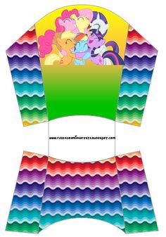 imagenes de ponny litle cajas | Estas son para patatas fritas, deben quedar así: