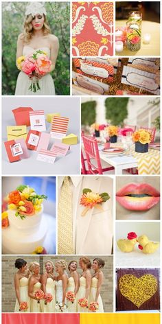 coral-and-yellow-wedding.jpg 720×1,440 pixels