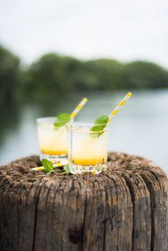 Chèvre Culinaire: [Rezept] Ein sommerlicher alkoholfreier Wasser Cocktail mit Mango, Minze & Vöslauer Balance* (Werbung)