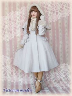 Victorian Maiden Elegant Coat with Hood Cape (On model) 5 by yoshi3329, via Flickr
