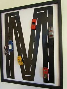 DIY Art for kids room Cars