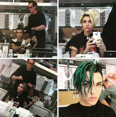 Ruby Rose Green Hair - Tomboy Style Brasil