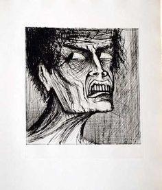 Bernard Buffet, l enfer de dante angelo -1977 on ArtStack #bernard-buffet #art