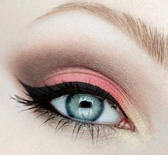 eyeshadow and liner...Really pretty look! :)
