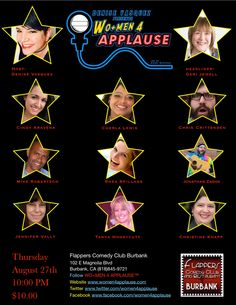 DENISE VASQUEZ : Denise Vasquez Presents WO+MEN 4 APPLAUSE™ Show @Flappers Comedy Club Burbank Main Room August 27th 9:30 PM With Headliner Geri Jewell...