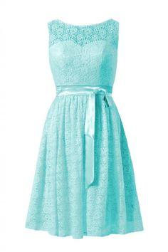 DaisyFormals Short Lace Bridesmaid Dress Vintage Scoop Lace Party Dress(BM43225) | Amazon.com