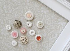 Vintage Button Magnets - Set of 12 in Your Choice of Colors - For Magnetic Memo Bulletin Boards. $30.00, via Etsy.