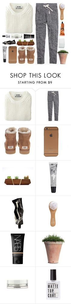 """✧It's that talk again"" by annakathryne ❤ liked on Polyvore featuring moda, Acne Studios, Madewell, UGG Australia, Cowshed, Aesop, NARS Cosmetics, Chanel i annasklothes"