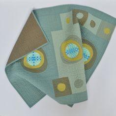 Graphic Baby Quilt Modern Quilt Baby Quilt by TwiggyandOpal
