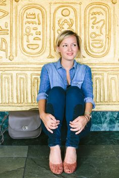 Casual day-off outfit by Jen Pinkston | photos by Mary Costa for Camille Styles
