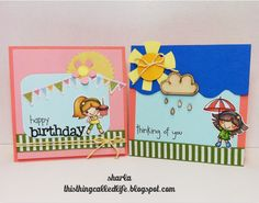 Mini stamps and dies from Your Next Stamp, cards are 4x4 size